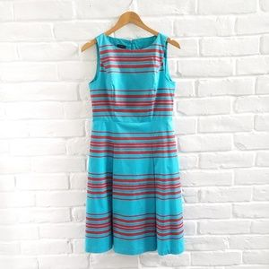 Dress Sleeveless A Line Fit Flare Turquoise, Red 8